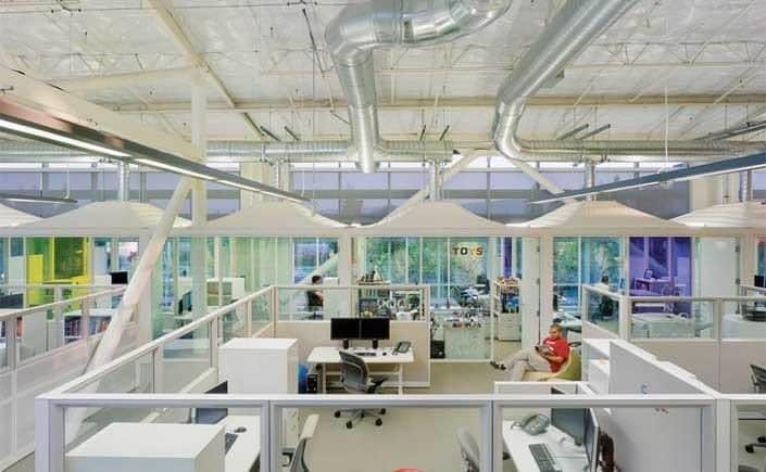 Aménagement bureaux google campus