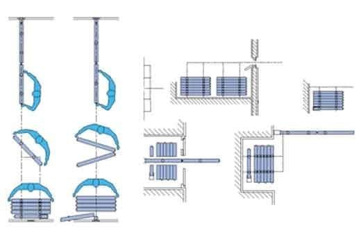 Fonctionnement mur mobile multi directionnel