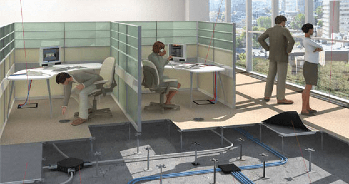 Aménagement plancher technique bureaux