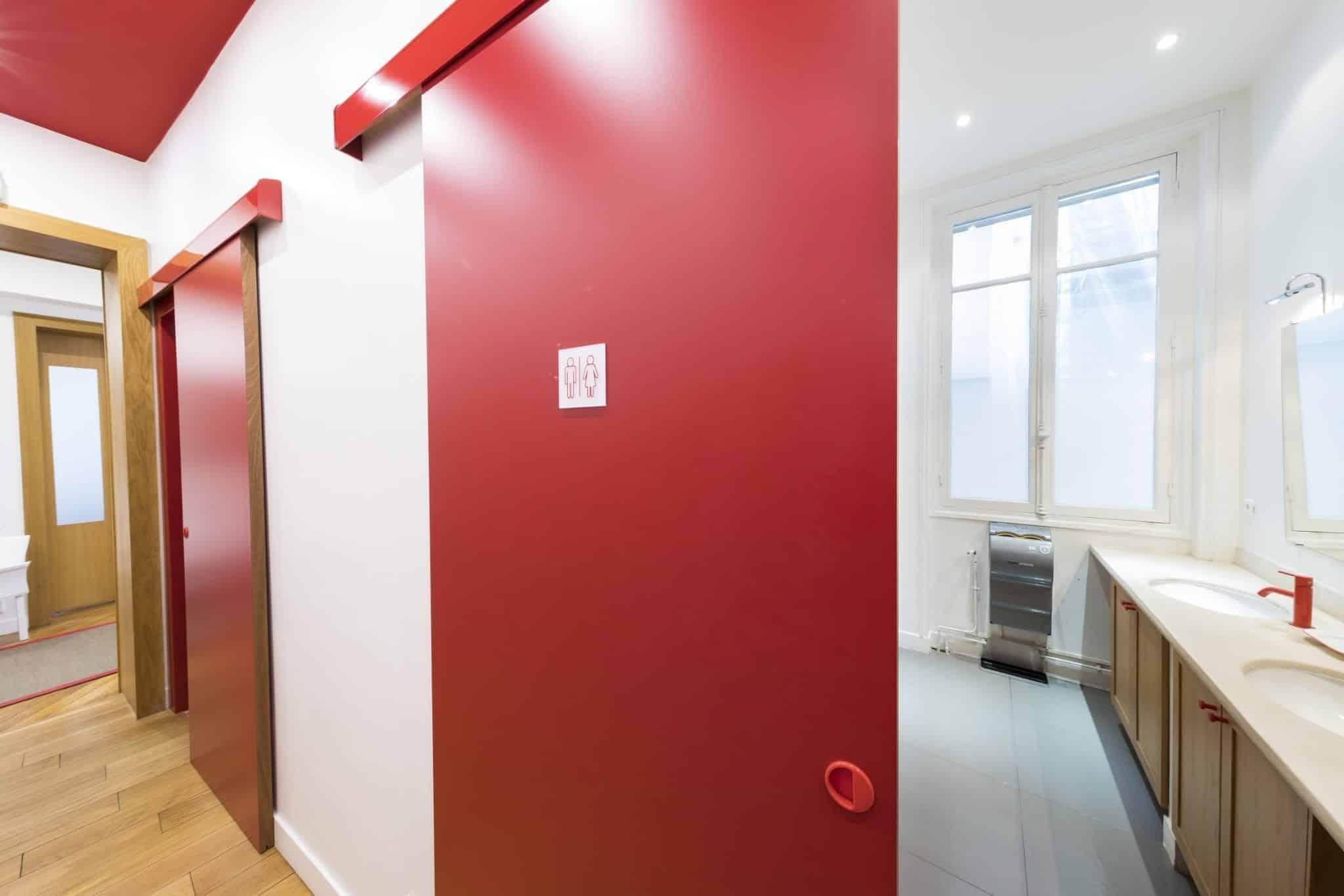 porte coulissante pour bureaux