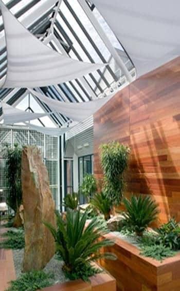 Aménagement des bureaux ISS avec plantes