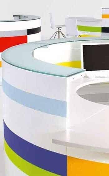 Banque Accueil colorée Twist