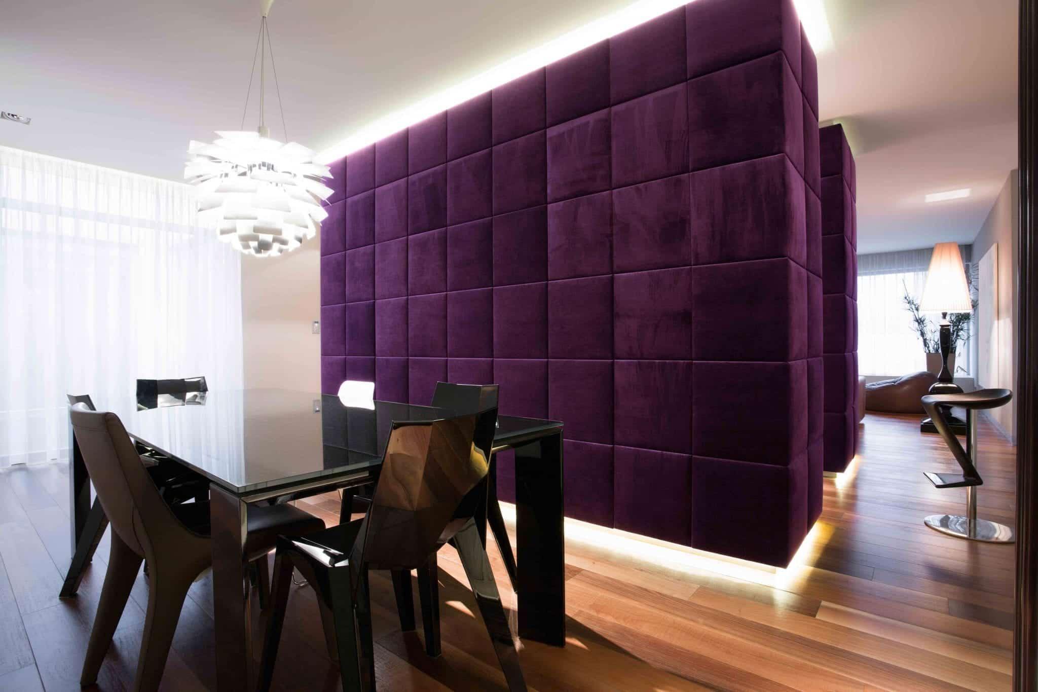 Installation cloison avec isolant acoustique