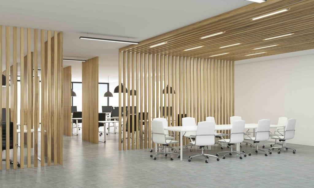 cloisons bois design pour espaces de travail exceptionnels. Black Bedroom Furniture Sets. Home Design Ideas