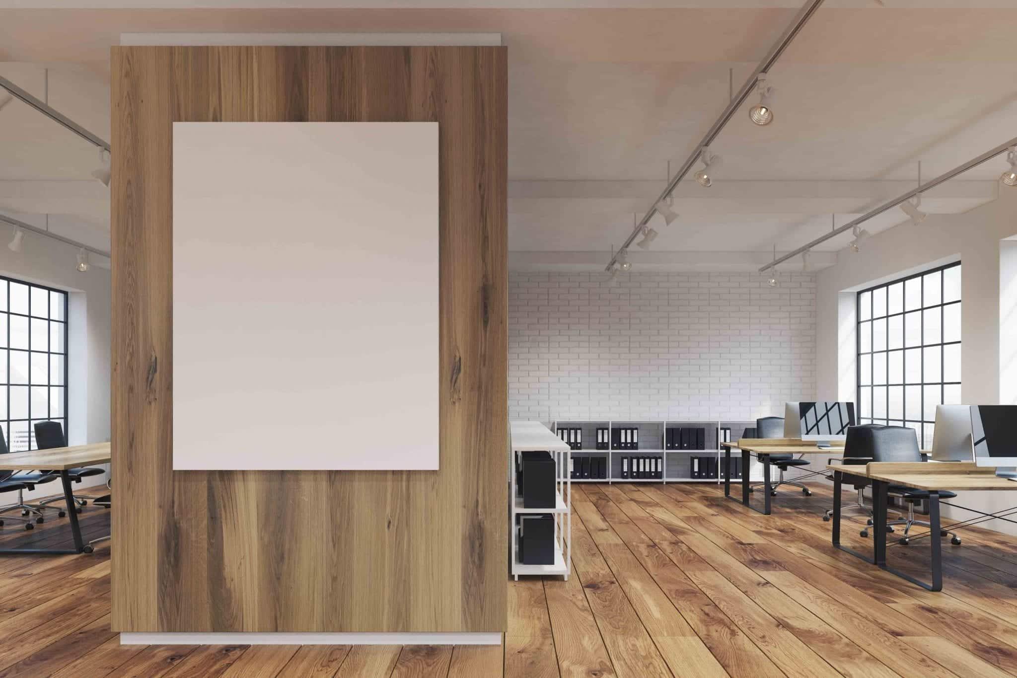 Cloison paravent en bois flotté pour espaces de travail
