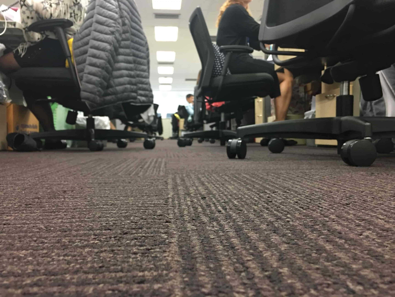 Moquette dalle U3P3 pour bureaux