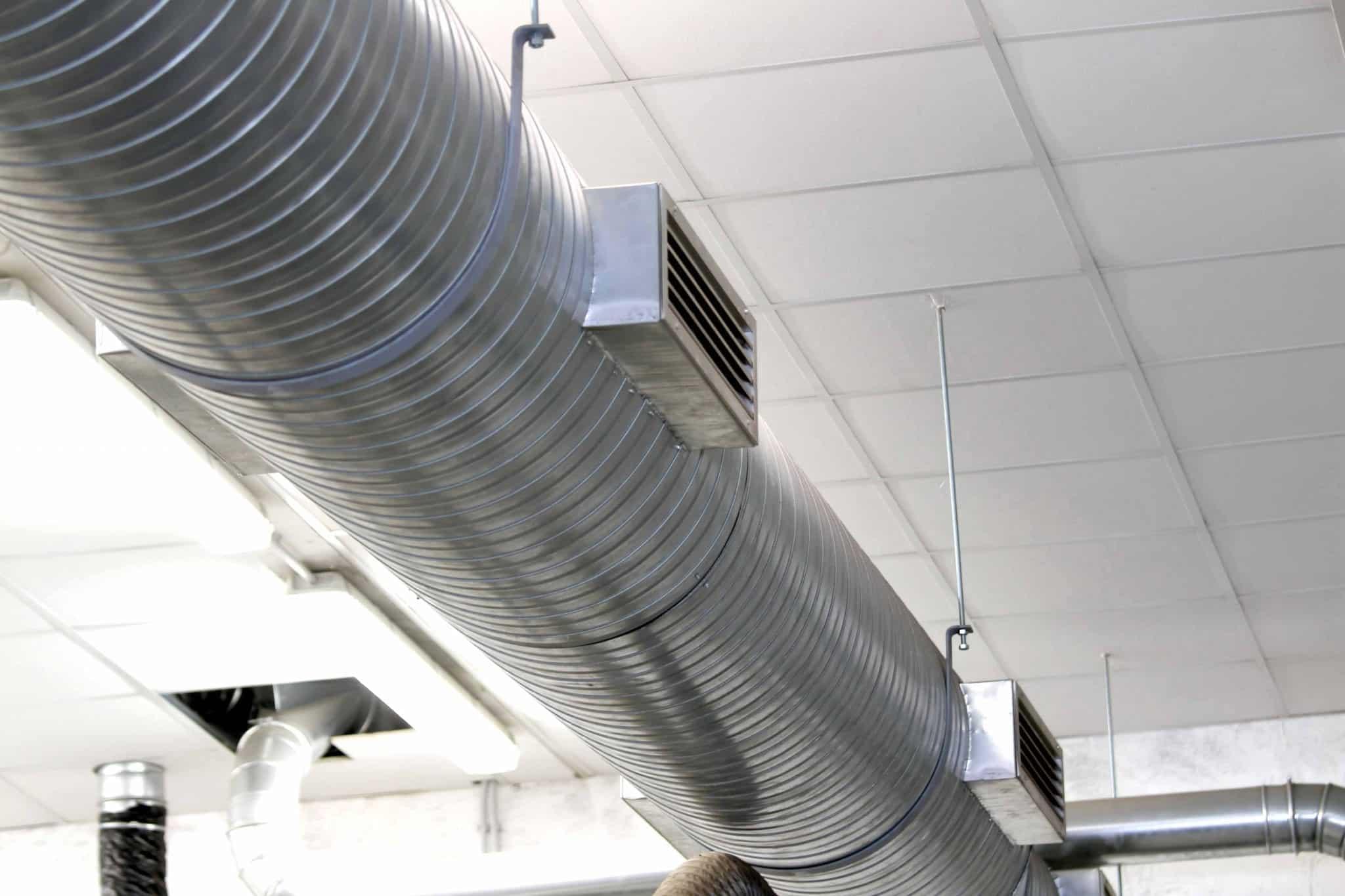 Plenum de reprise d'air - Ventilation immeuble de bureaux