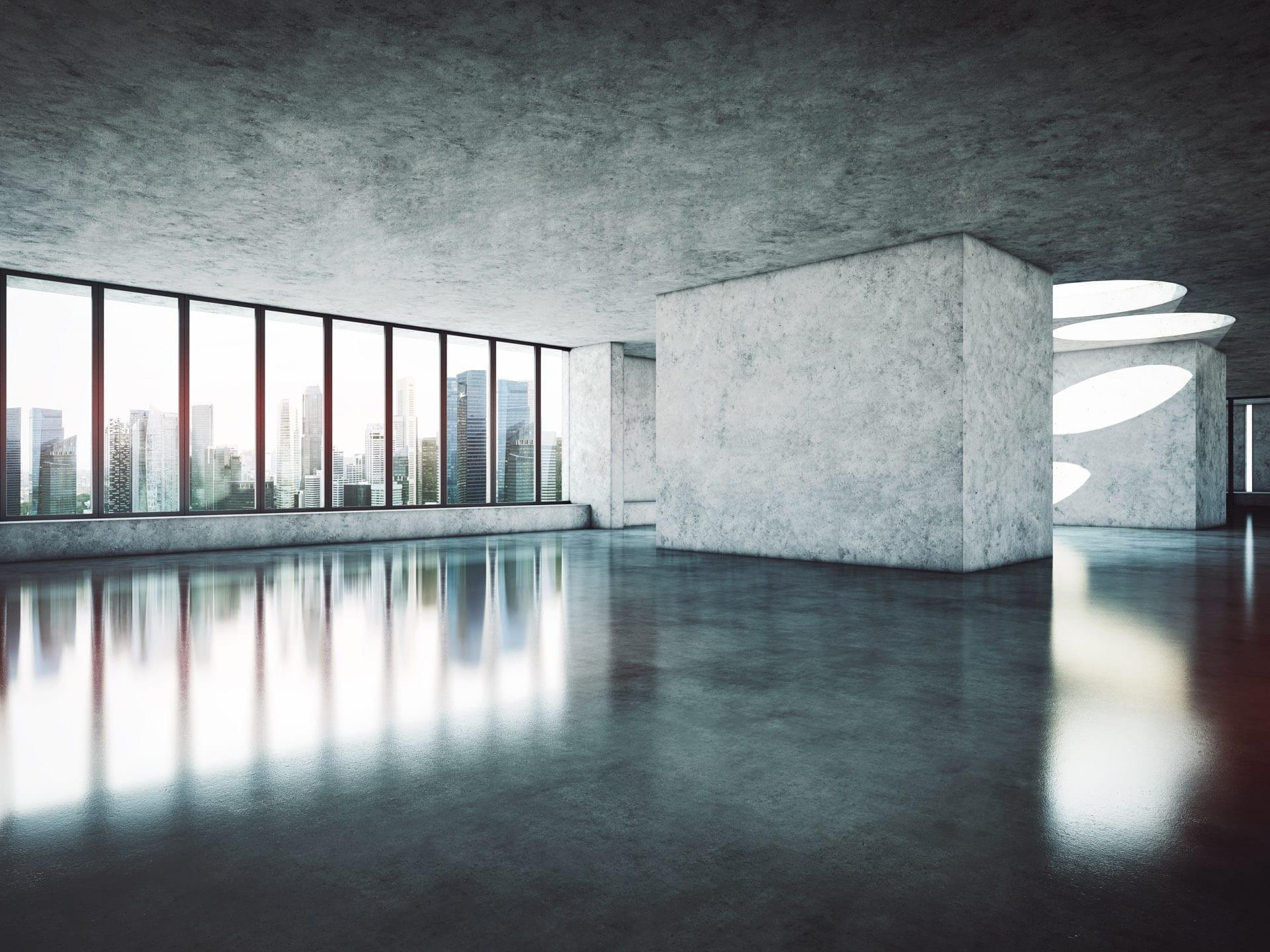 Réalisation de sol beton epoxy pour bureaux