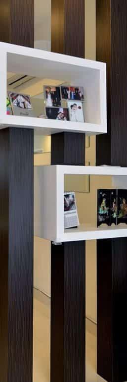 Un gros plan d'une étagère - Agencement de bureau Kytom