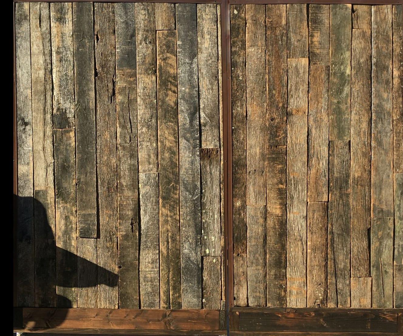 Palissade pour cloison originale en bois