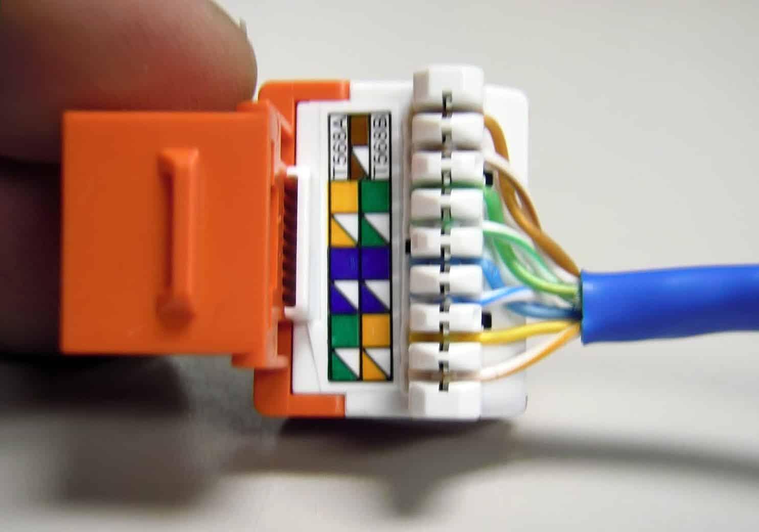 Câblage ethernet cat 5e