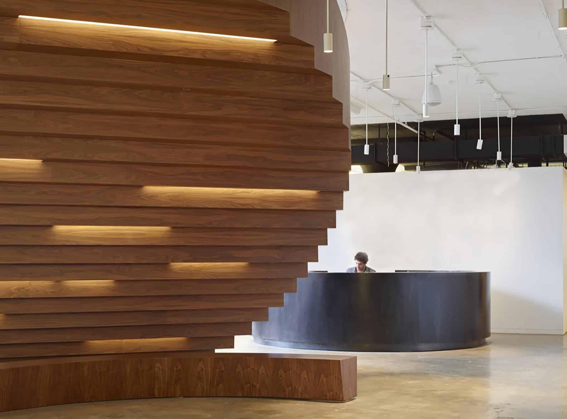 Agencement Cloison bois design pour entreprise