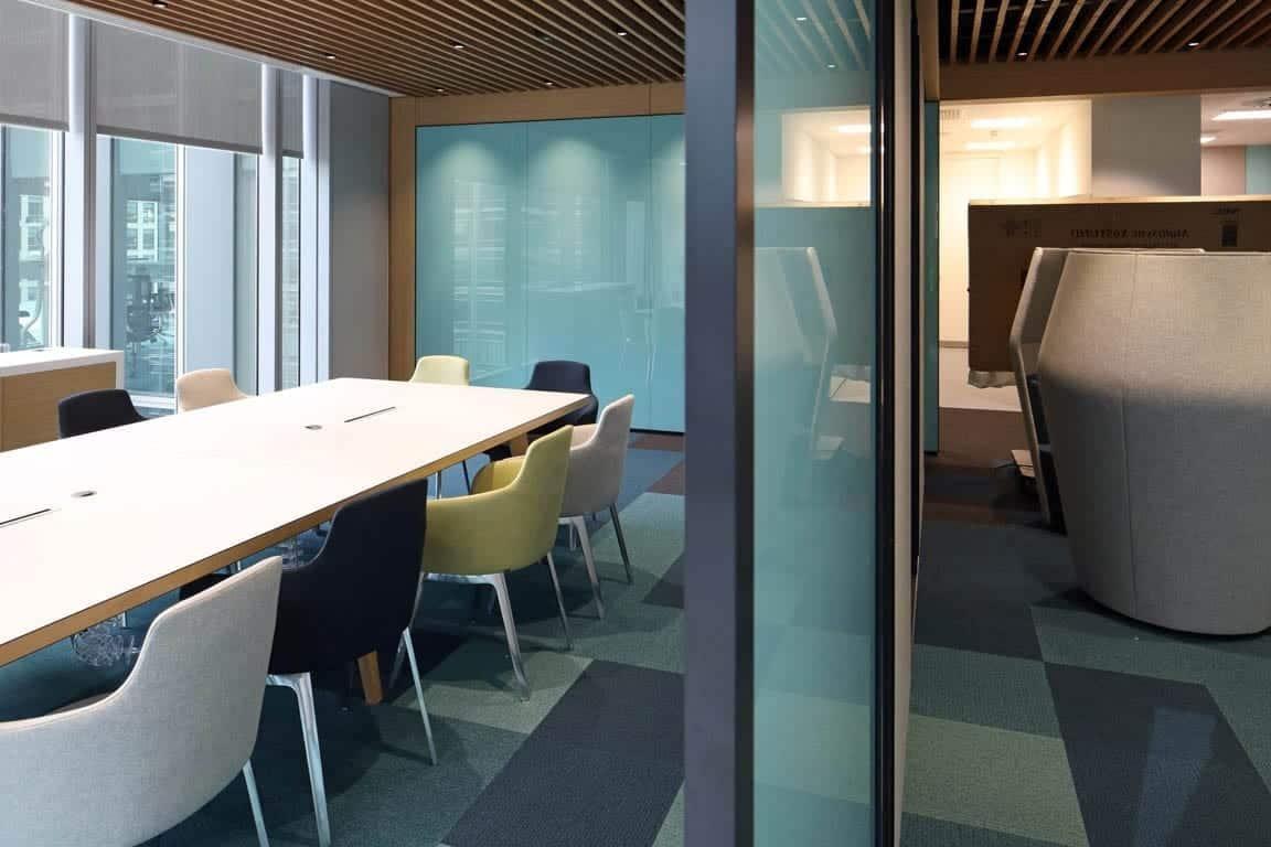 Installation de Panneau vitrage magnétique pour bureaux