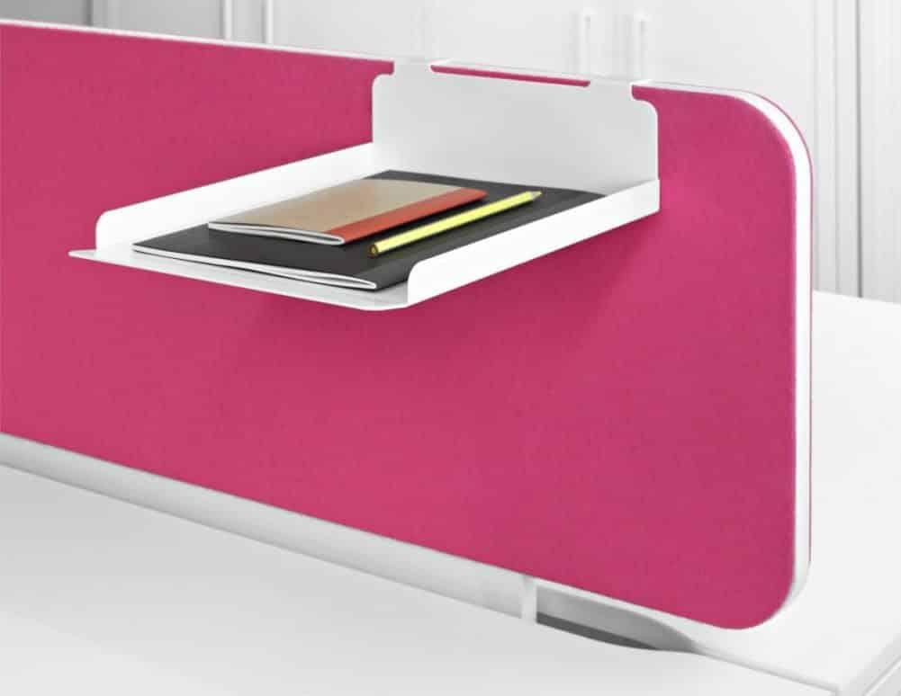 Écran de séparation textile pour tables de bureaux