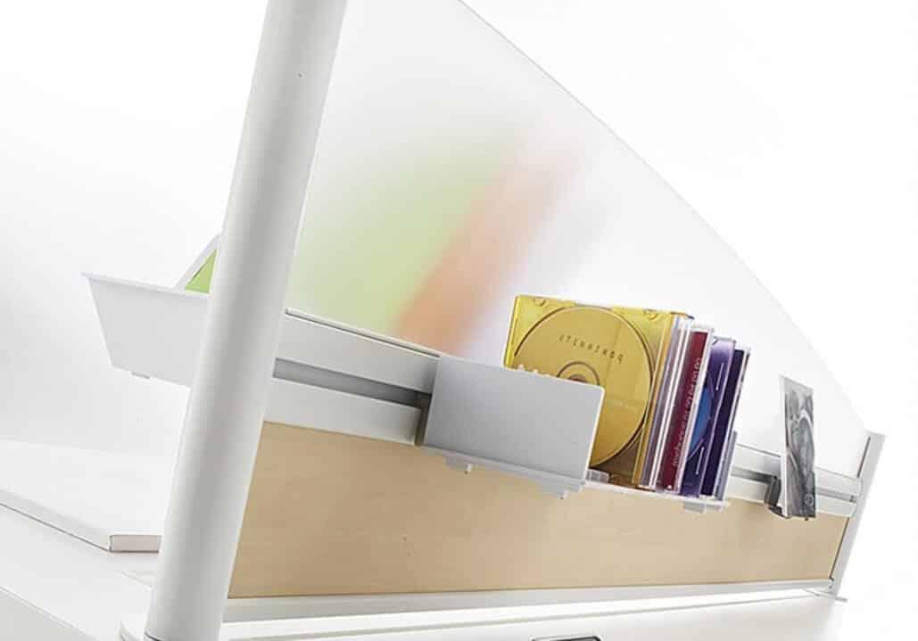 écran acoustique mixte pour bureaux partagés