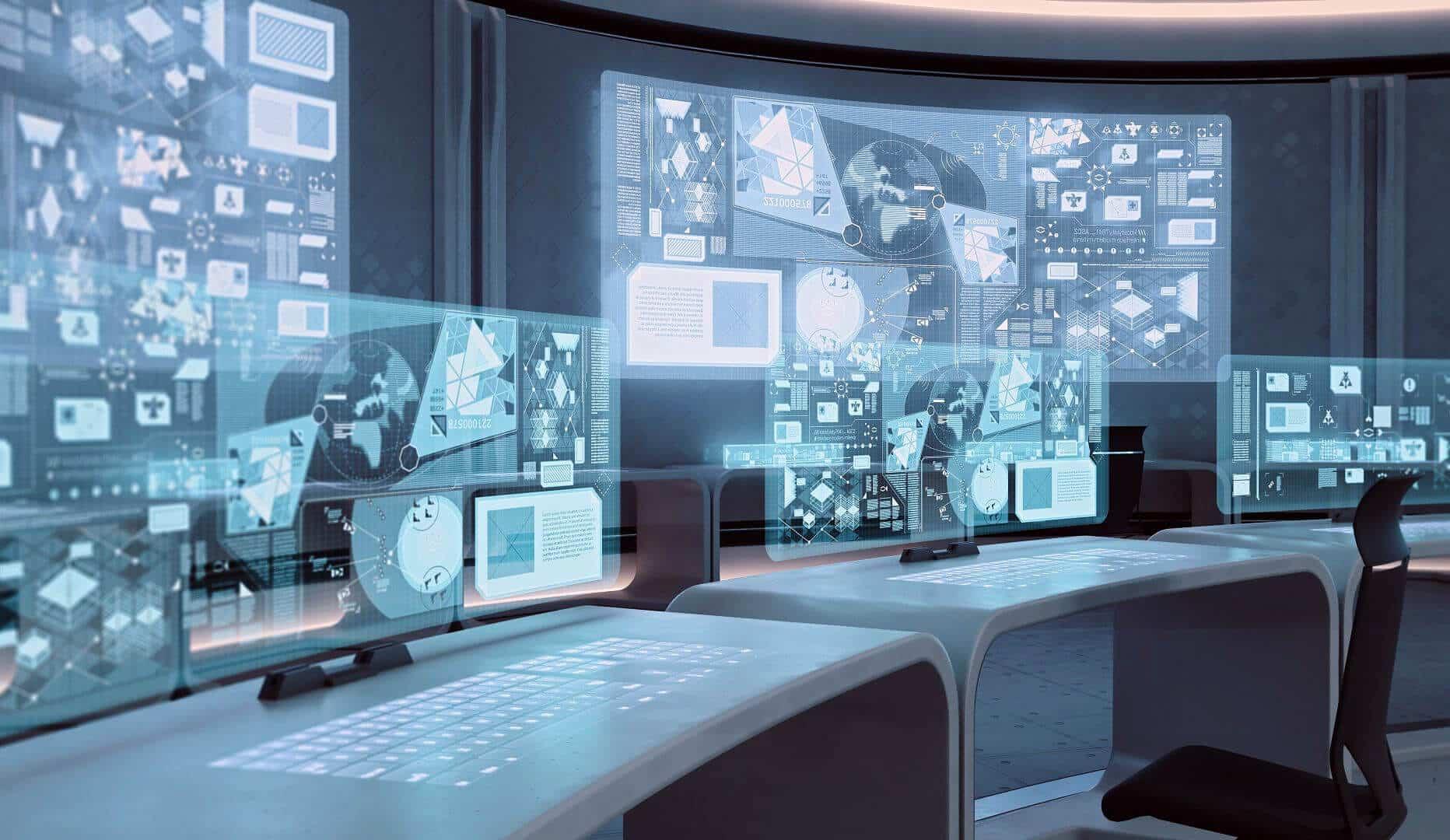 Lieu de travail : poste de contrôle informatique - Architecture