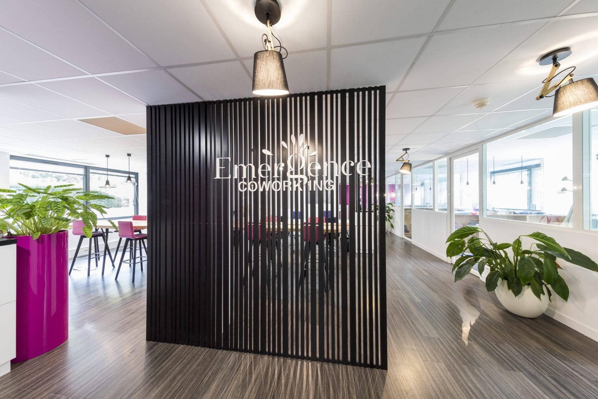 Accueil espace coworking et agencement de bureaux