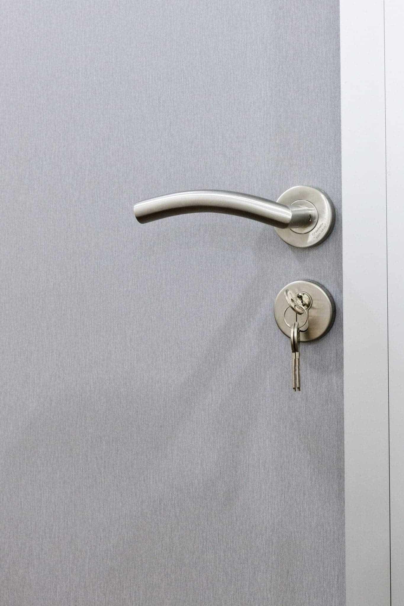 Porte bureau avec stratifié finition aluminium