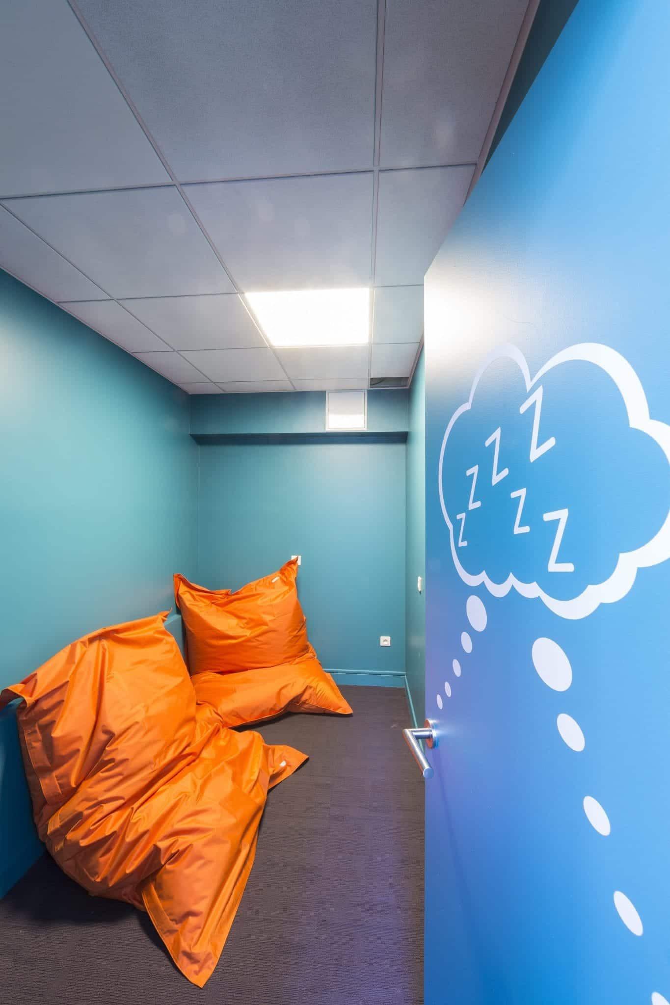 Conception d'une salle de repos au sein d'une entreprise