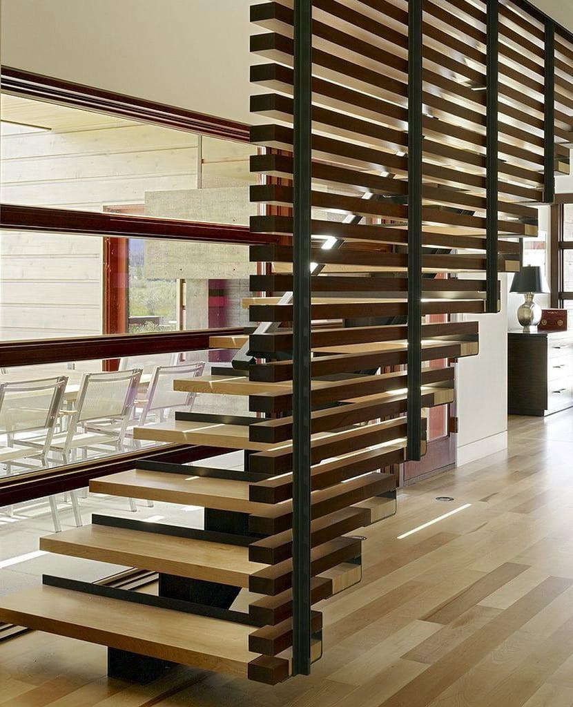 cloison garde corps en bois pour bureaux