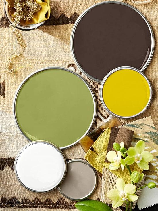 Palette naturelle café pour la décoration en entreprise